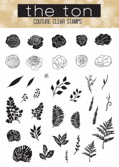 Mini Wild Florals, 4x6 Clear Stamp Set