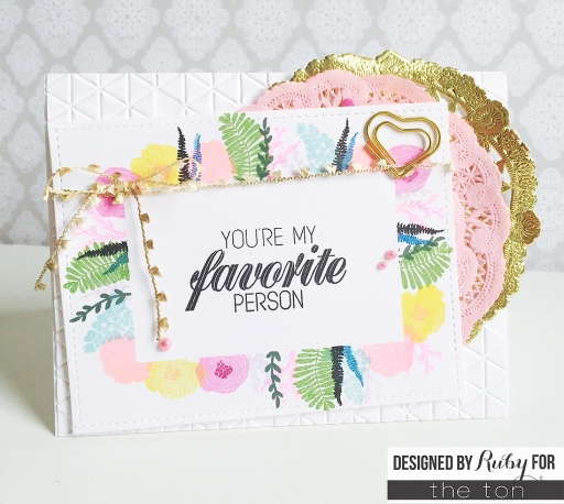 Ruby Wild Mini Florals Card