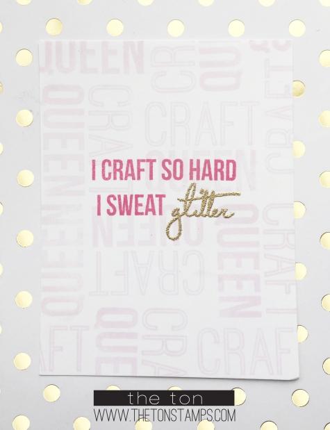 pink sweat glitter