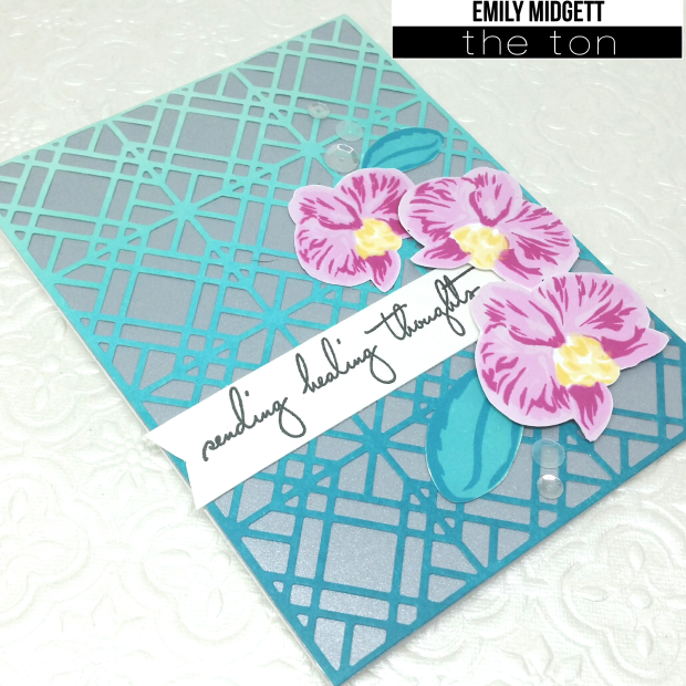 The Ton Ombre Blended orchid card close up wm