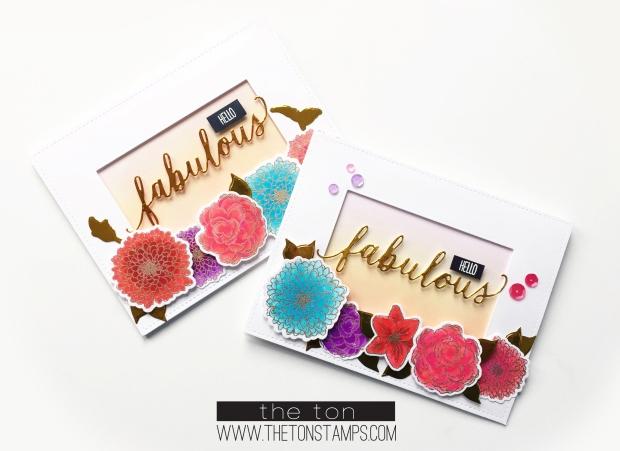 fab simple florals foil