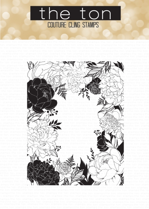 Floral Border Cling water
