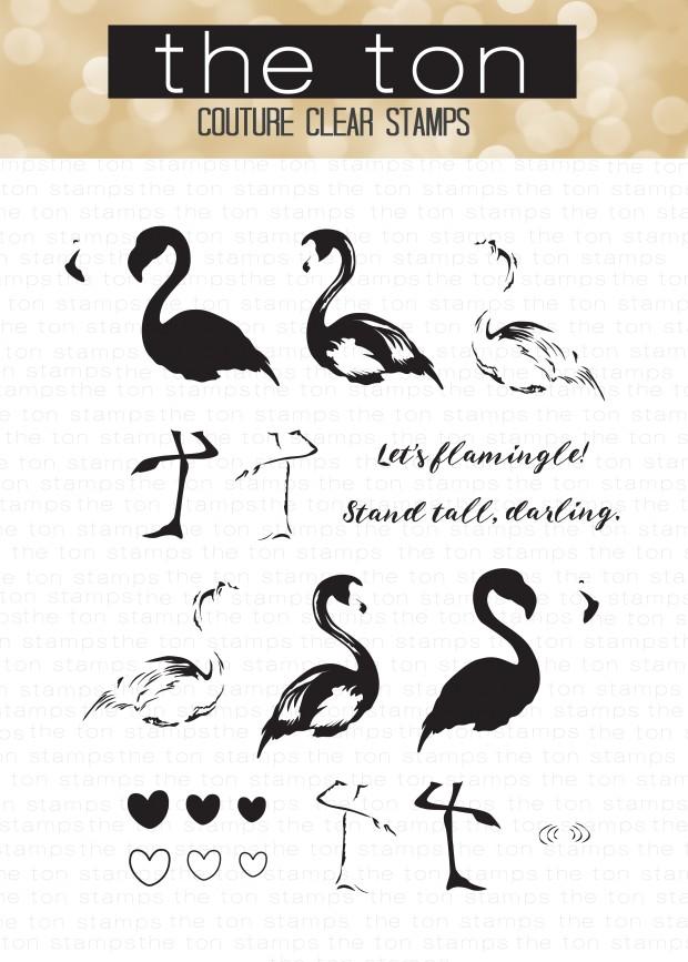 Darling Flamingos FINAL water