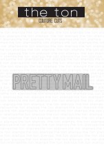 pretty mail word plate die