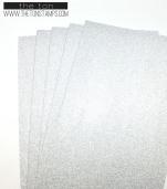 silver glitter half sheet