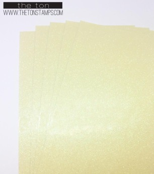 translucent yellow glossy glitter half sheet
