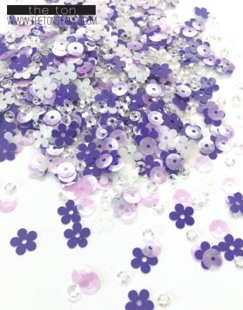 violet sprinkle mix