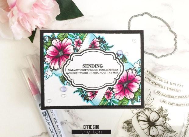 wildflower banner label