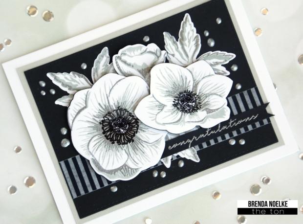 Anemone-Bouquet-B&W-1