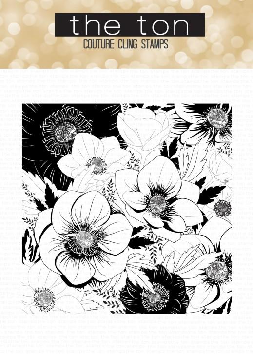 Anemone Garden 6x6 Cling water