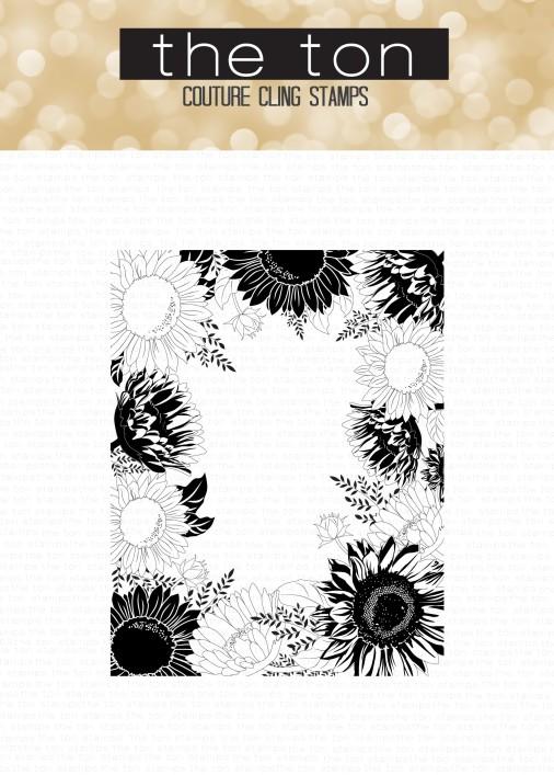 Sunflower Border 4.5x 5.75 CLING water