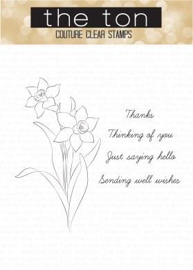 Daffodil Greetings 3x4