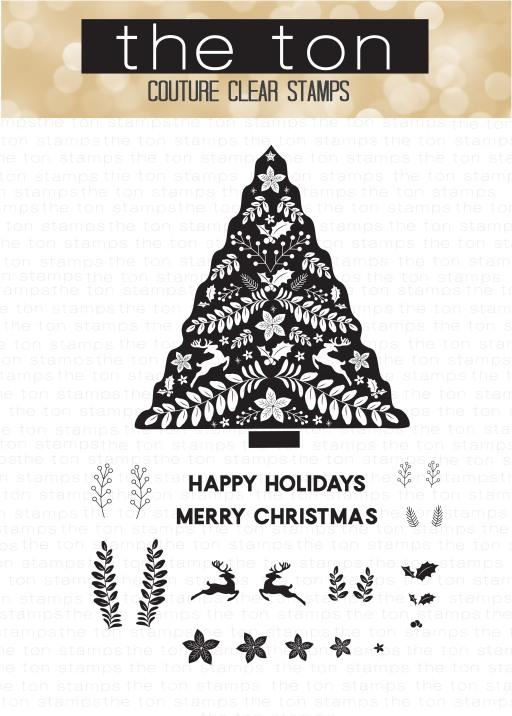 Folk Art Christmas Tree 4x6