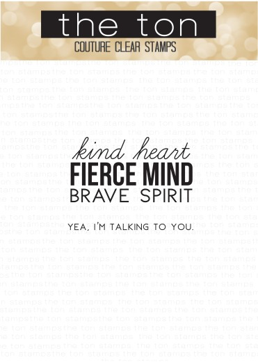Kind Fierce and Brave 2x3 Mini clear water