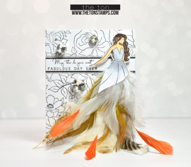 natural feathers dress