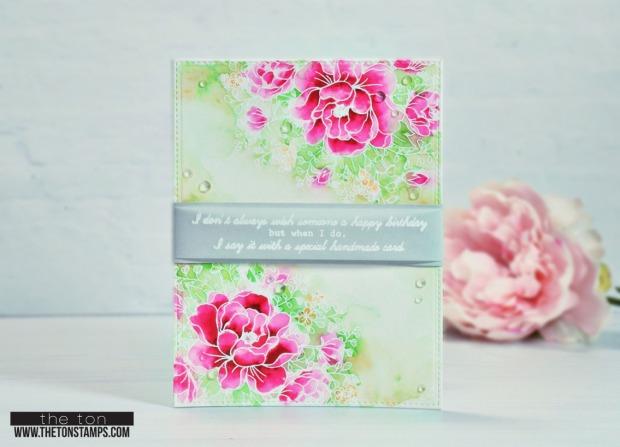 peony bouquet pink corners