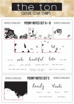 Peony Notes 6x8 Clear Bundle water