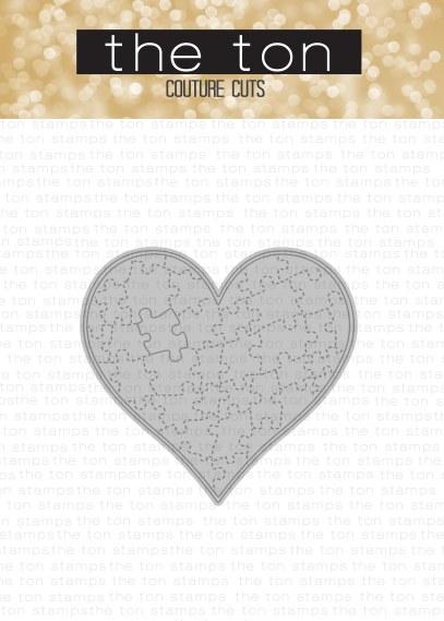 heart jigsaw dies - stitched