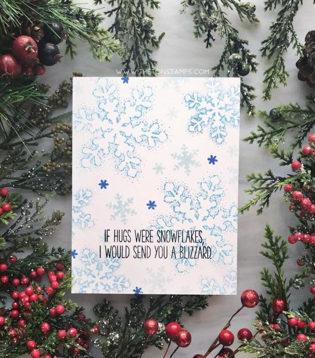 blizzard hugs blue
