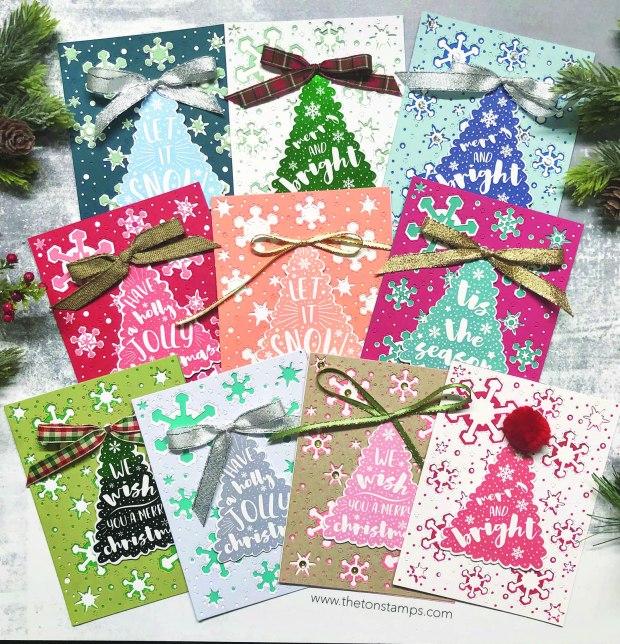 tree printable snowflake cards